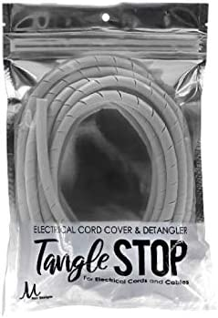 M Hair Designs Tangle Stop Electrical Cord Cover and Detangler Gray 9 Feet product image
