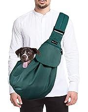 SlowTon Chusta do noszenia psa, kot, zwierzę domowe, torba na ramię, regulowana, wyściełany pasek na ramię z kieszenią przednią, torba do noszenia na zewnątrz
