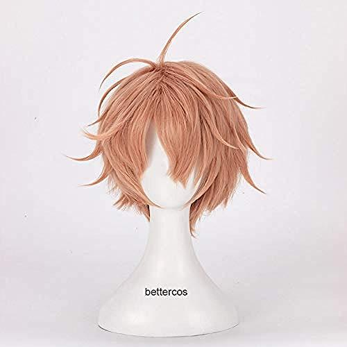 IDOLiSH7 Mitsuki Izumi Cosplay pelucas corta naranja resistente al calor peluca de pelo sinttico + gorro de peluca