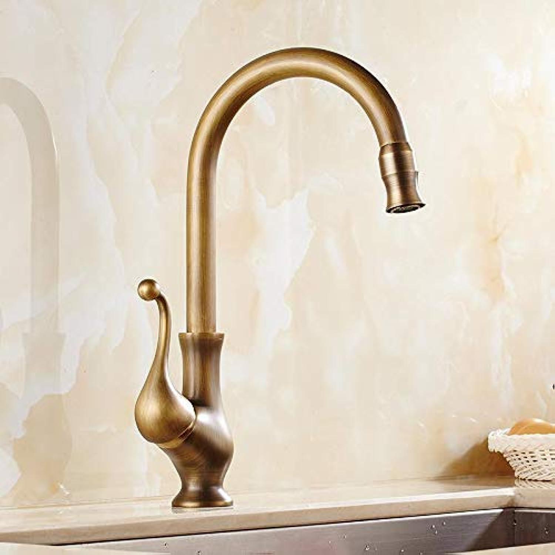 Decorry Antique Brass Kitchen Faucet Mixer Sink Faucet Sink Faucet Mixer Tap 360 Swivel Spout Vintage