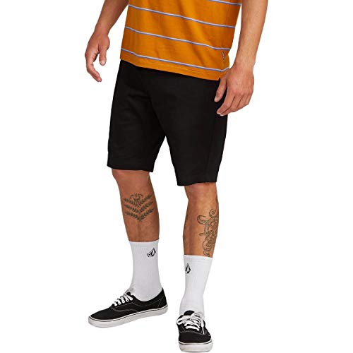 Volcom Men's Stretch Modern Fit Chino Short, Black, 31