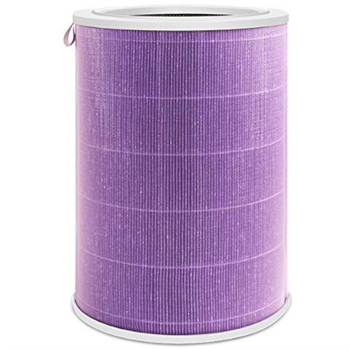 PUGONGYING Popular Elementos de Filtro de Cartucho del Filtro de Aire FIT para XIAOMI MI Purifier 1/2 / Pro / 2S 1PC (no Incluye Filtro de carbón Activado) Durable (Color : Purple)
