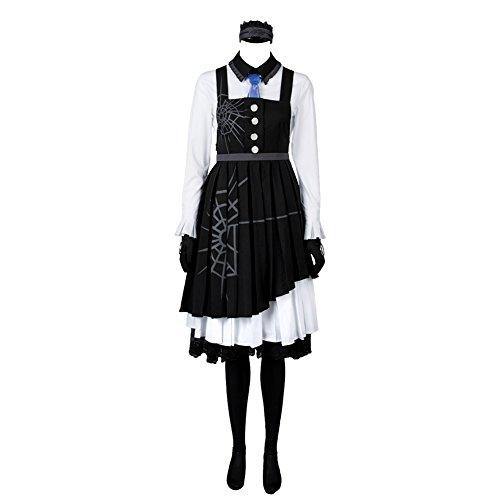Killing Harmony Kirumi Tojo Anime Putzfrau Japanisches Dienstmädchenkleid Cosplay Kostüm Damen XS