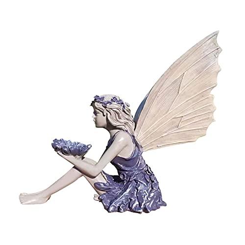 HAKLAKY Adornos Jardin Exterior Estatua de Hadas Hermosa ángel Escultura Figura Realista Ornamento Piedra jardín jardín Arte al Aire Libre decoración Interior Estatua de decoración de jardín