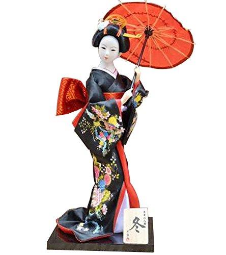 Black Temptation Japanische traditionelle Puppe Geisha Puppe antike japanische Puppen [G]