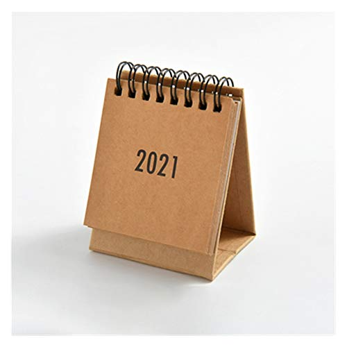 Calendario de escritorio 2021 Mini escritorio calendario de escritorio decoración personalizada Trabajo nota de agenda Oficina del Plan de Año Nuevo del calendario de escritorio Calendario de sobremes