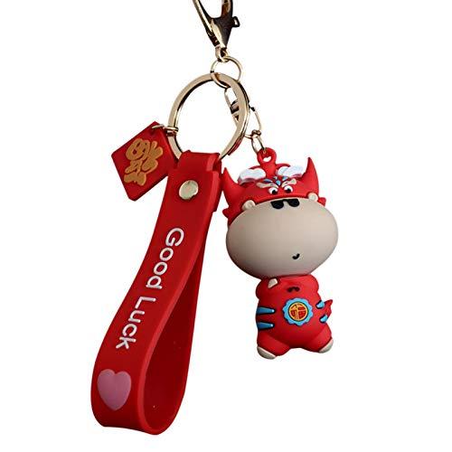Cucheeky Fortune - Llavero de silicona de ternero para organizar las llaves del hogar