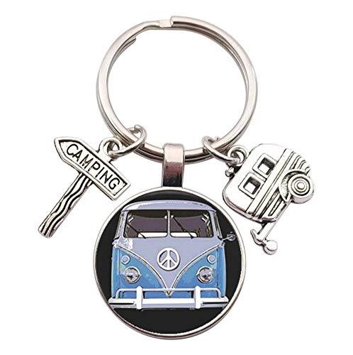 Schlüsselanhänger, Schmuck für die Tasche im Van mit Anhängern für Camping und Wohnwagen (Modell 1)