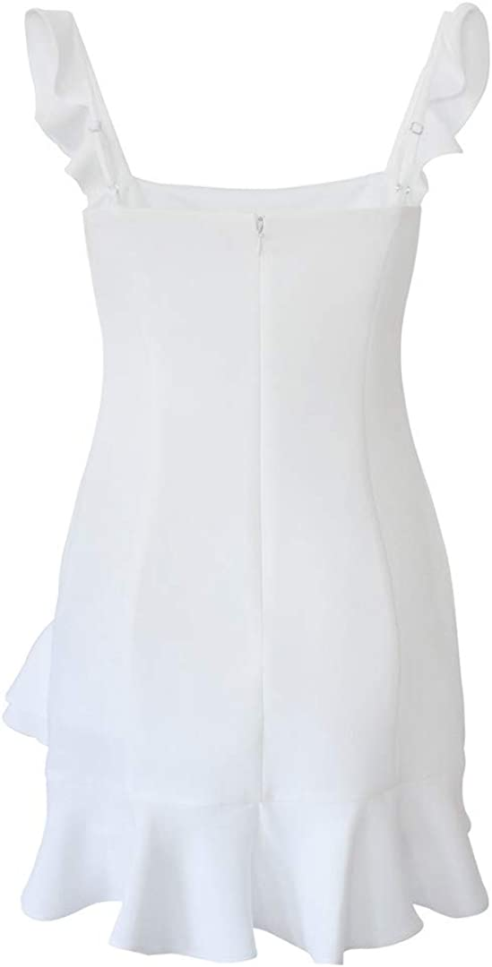 BCBGeneration Women's Cktl Ruffle Fitted Mini Dress