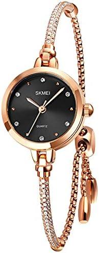 Tonnier Watches Women Analog Quartz Watch Mosaic with Diamonds Bracelet Dress Watch for Female Waterproof Wristwatch with Rose Gold Bracelet WeeklyReviewer