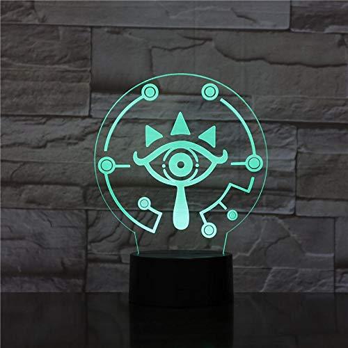 Home Office Club Decorazione Atmosfera Lampada da tavolo Scrivania Maschera della leggenda di Zelda Luce notturna per bambini Camera da letto Regalo per bambini Luce notturna a LED 3D