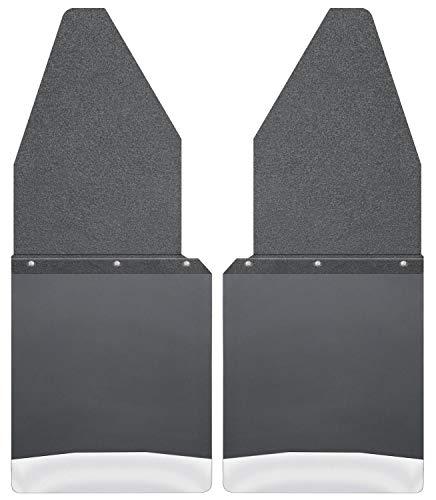 Husky Liners 17104 Kick Back Mud Flaps 12IN Black Top/SS Wt Fits 88-18 F150/250
