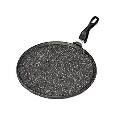 Professional Cooking Crepiera Piastra Liscia Testo Romagnolo crepiera Antiaderente per Grigliare, arrostire ECC. (cm.28)