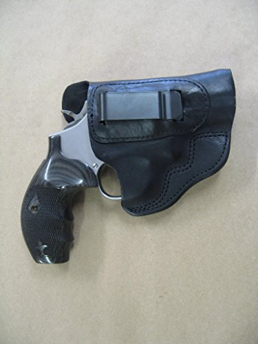 Azula IWB Leather in The Waistband Carry Holster for Smith & Wesson 686, 585, 66, 19, 10 S&W CCW Black RH