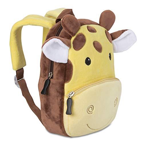 Kinderrucksack für Kleinkinder Kindergarten Rucksack für Kinder Backpack Schultasche Tier-Rucksäcke 1-4 Jahre, Robust, Leichtgewichtig, Flauschig & ergonomische Träger (Giraffe)