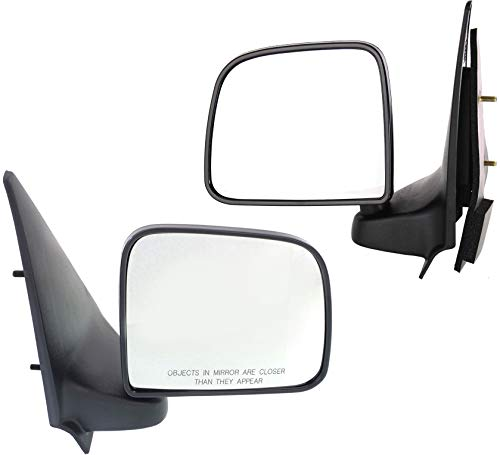 Manual Mirror compatible with Ford Ranger 93-05/Mazda Pickup 94-02 Right and Left Side Manual Folding Paddle Style Textured Black