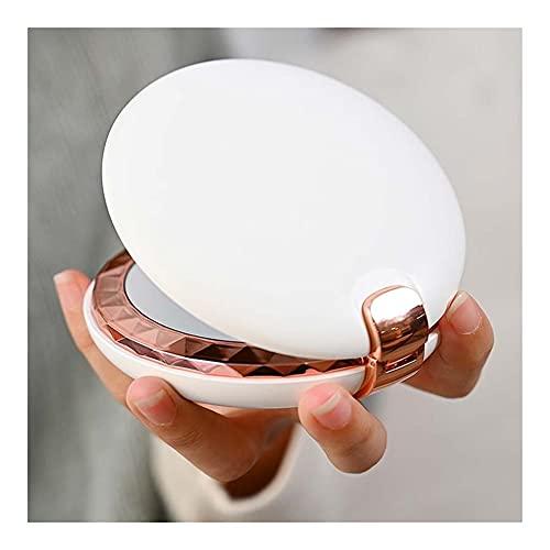 Luces de espejo de vanidad LED Maquillaje espejo luz mini redondo portátil LED maquillaje espejo sensibilización USB cargable maquillaje espejo para maquillaje (Emitting Color : Natural Light)