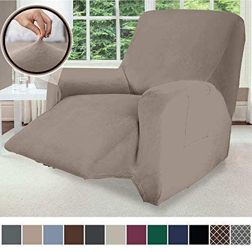 Gorilla Grip Original Fitted Velvet 1 Piece Large Recliner Protector for Seat...