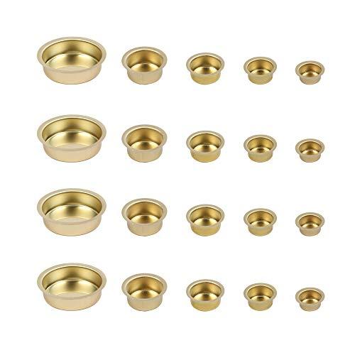 BODA Creative Kerzenhalter Kerzeneinsätze Kerzentüllen Teelichthalter aus Metall Mix-Set, Durchmesser 12-40mm, 20-TLG.