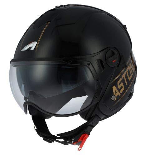 Astone Helmets - MINIJET S SPORT COOPER graphic - Casque jet compact - Casque de moto look sport - Casque de scooter mixte - Casque en polycarbonate - black/gold M