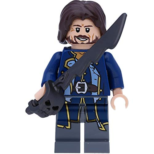 LEGO Pirates of The Caribe - Minifigura de Admiral Norrington con espadas