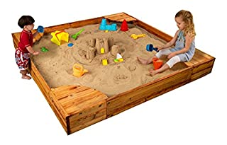 KidKraft Wooden Backyard Sandbox with Built-in Corner Seating and Mesh Cover - Honey (B001U4ZEZQ) | Amazon price tracker / tracking, Amazon price history charts, Amazon price watches, Amazon price drop alerts