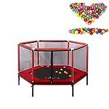 HBIAO Kindertrampolin, Kinderheim-Trampolin Interaktives Eltern-Kind-Spiel Fitness-Trampolin mit...