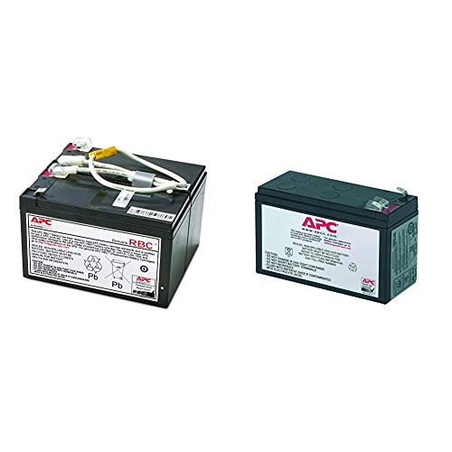 APC UPS Battery Replacement, APCRBC109, for APC UPS Models BR1500LCD and Select Others & UPS Battery Replacement, RBC2, for APC Back-UPS Models BE500R, BK300C, BK350, BK500 and SC420, SU420NET