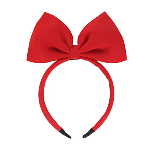 Bow Headband Headbands for Women Girls - 1pcs Large Red Bow Headbands/Headwraps/Hairband/Headwear for Birthday Valentines Day Christmas Gifts Fashion Party Cosplay Costume Accessories Gifts Red 1pcs
