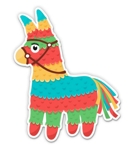 GT Graphics Express Pinata Cute Fiesta - 5' Vinyl Sticker - for Car Laptop I-Pad - Waterproof Decal
