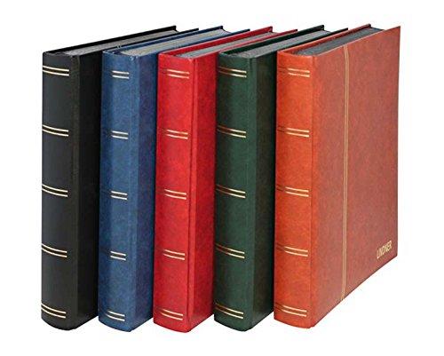 Lindner 1169S Einsteckbuch - Einsteckbücher mit 60 schwarzen Kartonseiten - Einband wattiert - Blau