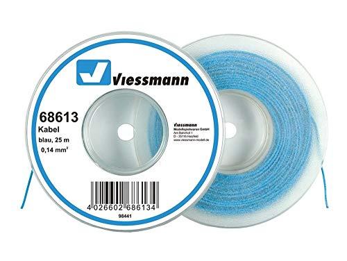 Viessmann 68613 Kabelring, Litze, 25m, 0,14 mm², blau