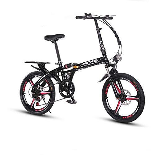 WPY Bicicleta Plegable, Cambio de 7 Velocidades, 20 Pulgadas,Acero Carbono, para Ciclismo...