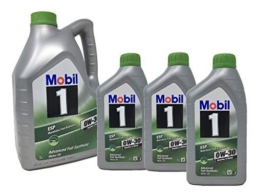 Mobil 1 motorolie ESP 0W-30 Advance volledig synthetisch, verpakking 8 liter