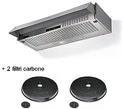 CAPPA CUCINA SOTTOPENSILE VETRO 90CM FABER COLORE NERO//BIANCO//FRONTALINO INOX