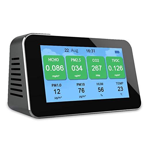 LFWQ CO2/PM2.5/PM1.0/PM10 Air Qualität Monitor Formaldehyd (HCHO) detektor innen smog Meter Tester Gas Analyzer Temperatur Feuchtigkeit