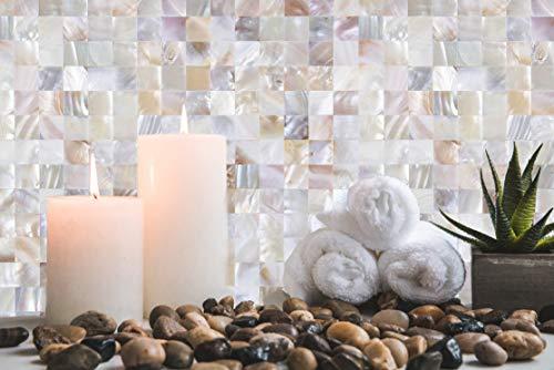 KASAROシェルタイルタイルシート防水シート壁紙シール貝殻壁紙耐熱無味台所用トイレ用玄関用花柄1シート