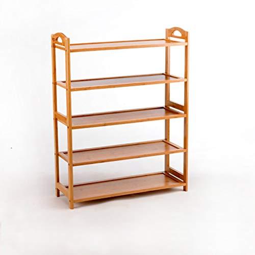 LILICEN LYJ Zapatero de 5 Niveles de bambú, Multi-Capa Simple Estante extraíble Moderno, hogar Montado Zapata for el Polvo del gabinete 67,5 * 25 * 88.5cm