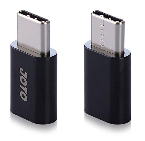 Adaptador USB tipo C para Micro USB, conector conversor Joto USB-C 3.1 para Micro USB fêmea para Galaxy S9+ S8+ Note 8 Tab S3 Nintendo Switch Google Pixel LG G7 G6 V30 Nexus 5X/6P todos os dispositivos tipo C, pacote com 2