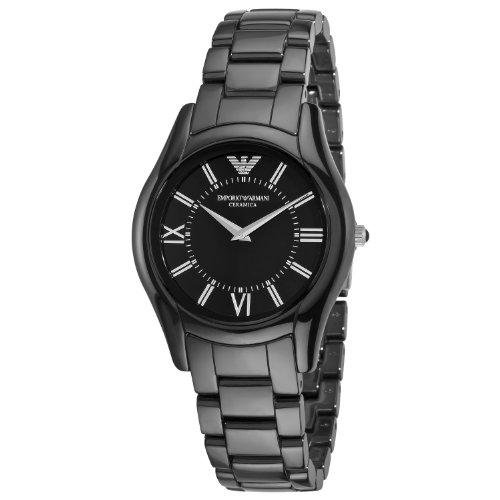 Emporio Armani AR1441 - Reloj analógico de Cuarzo para Mujer, Correa de cerámica Color Negro