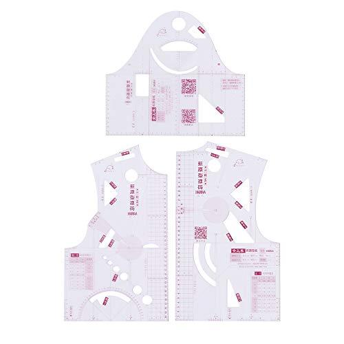 XINDUI Herramientas para Hacer Patrones de Costura a Medida Plantilla a Medida Regla de diseño de Prendas de Vestir Regla de Curva Francesa