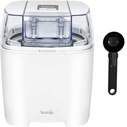 Ice-Cream Maker Machine Soft-Serve Electric - 1.58 Quart With Digital Timer And Free Scoop Spoon,...