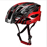 YUEBM Red Cycling Helmet Mountain Road Bike Helmet with Brim Suitable for Men and Women, Riding Accessories