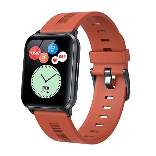 Reloj inteligente para hombre y mujer, monitor de presión arterial, medidor de oxígeno en sangre, monitor de frecuencia cardíaca IP67, impermeable, Full Touch Smartwatch compatible con iOS Android