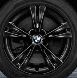 Original BMW Alufelge X1 F48 Doppelspeiche 385 schwarz in 17 Zoll