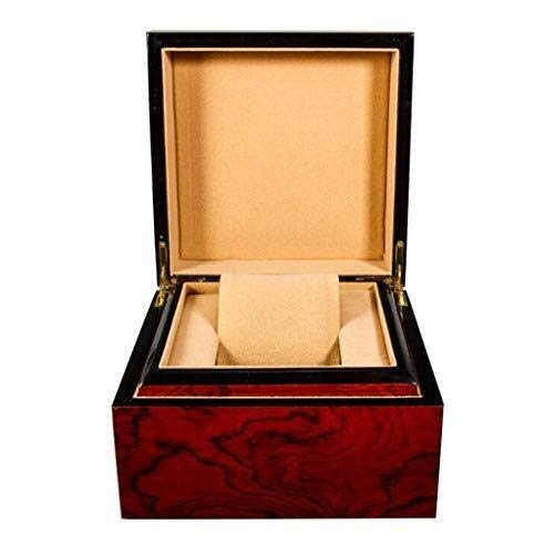 GNLIAN HUAHUA Watch Bander Box Madera Caja de Reloj de la Caja Entramado Caja de exhibición de la joyería Cajas de Almacenamiento extraíble y Caja de exhibición de Joyas