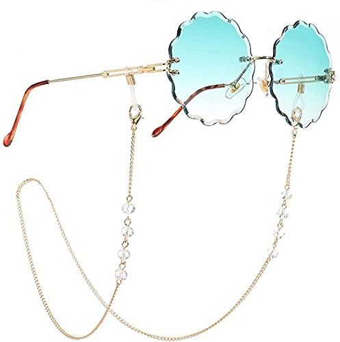 Cadenas de Gafas de Sol de Lectura de Cristal Transparente Cuentas de Mujer Accesorios de cordón Gafas de Sol sujetan los Cordones de Las Correas