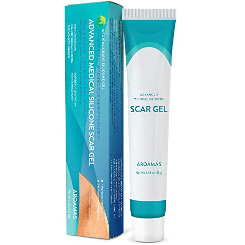 Aroamas Silicone Scar Gel, 45g, Silicone Scar Gel for Surgical Scars, for Face, Scar gel with silicone for Keloids, C-Section, Cosmetic Procedures, Burns, Injuries