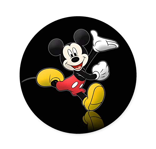 Round Non-Slip Laptop Mouse Pad, Mickey Mouse Pad for Work and Home Computer Accessories