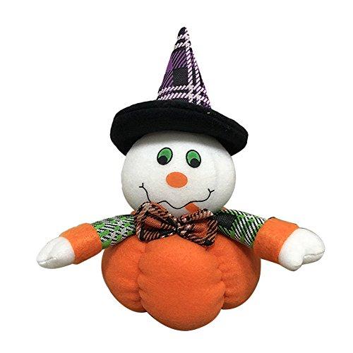 Demarkt–Halloween muñecas Halloween decoración Figuras Peluche Juguete Halloween Regalo Negro